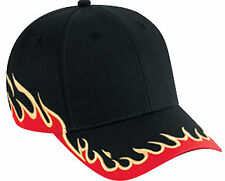 Flame Pattern Cotton Twill Low Profile Pro Style Cap 58-542