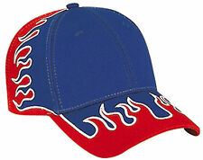 Flame Pattern Superior Cotton Twill Low Profile Pro Style Cap 58-790