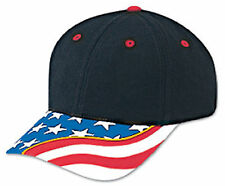 US Flag With Yellow Ribbon Visor Superior Brushed Cotton Twill Cap 80-397