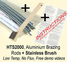 Aluminium Rods  braze/weld (low temp, no flux!!) HTS2000 / stainless steel brush