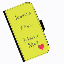 Ideas WILL YOU MARRY ME Leather wallet personalised proposal phone case Sony
