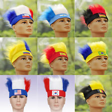 NC13 Men's New Tide Wig Hat Brazil World Cup FIFA National Fans Soccer Wigs