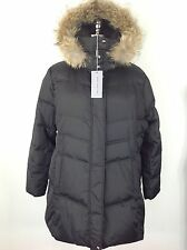 Andrew Marc NWT Womens Black Down Jacket w Real Coyote Fur Removable Hood 1X,PM