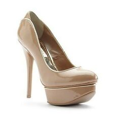 NEW Jennifer Lopez Platform High Heels Shoes Womens Size 8 9.5 Nude NIB Sexy $75