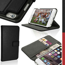 """PU Leather Wallet Flip Case for Apple iPhone 6 & 6S 4.7"""" Stand Magnetic Cover"""