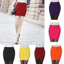 HOT Sexy Mini Skirt Slim Seamless Stretch Tight Short Fitted Candy Dress Skirt 1