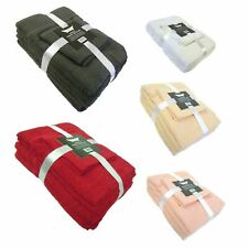 6 Piece 100% Cotton Bath Towel Bale Set - 8 Colours - Bathroom - New