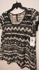 NWT Jessica Simpson Makenzie Lace Blouse - MSRP $44