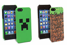 Minecraft iPhone 5 and 4 Cases Creeper/Grassy Block Cover Officially Licensed