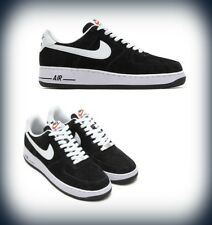 Mens Nike Air Force 1 Low Black Suede/White  488298-064