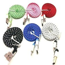 8 Pin Braided USB Data Sync Cable Cord for iPhone 5 5S 5C iPod Touch 5 Nano 7