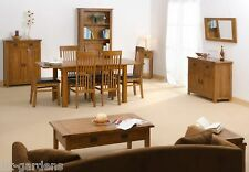 Rustic Solid Oak Lounge Indoor Furniture Table Bookcase Dining Set Sideboard