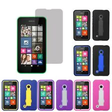 Tough Hard Shell Stand Cover Case For TMobile Nokia Lumia 530 LCD Guard