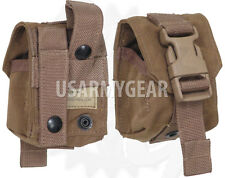 1 Made in Usa USMC Coyote Brown Molle 2 Frag Grenade Pouch Army Military Eagle I