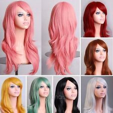 Womens/Ladies 70cm Long Curly Wavy Cosplay/Costume/Anime /Party Full Sexy Wig