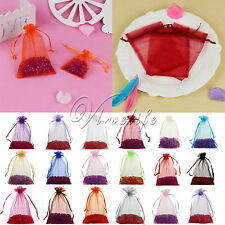 "50PCS 4""x6"" Sheer Organza Bags Wedding Favor Gift Candy Pouch Xmas 10cmx15cm"