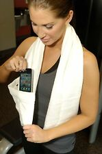 Bamboo sports workout pocket towel carries iPhone, Android, keys, money, ID, etc