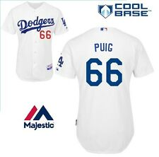 Majestic Los Angeles Dodgers Yasiel Puig Licensed Men Stitched MLB Jersey White