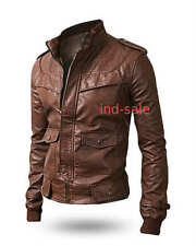 Custom Tailor Made All Size Genuine Stylish Leather Jacket Brown/Tan Slim Fit