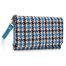 Kroo Clutch Wristlet Wallet with Back Zipper for Smartphone up to 4 Inch