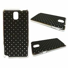 RHINESTONE DIAMANTE GEM HARD BACK CASE IN BLACK SAMSUNG GALAXY NOTE 3 GT N9000