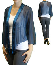 New Women's Plus Size 3/4 Sleeve Teal Bolero Cardigan Sizes 1X 2X 3X 4X 5X 6X