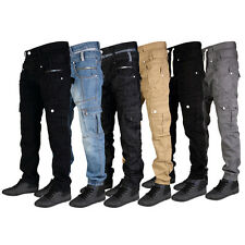 R3 MENS J2 DENIM BUTTON FLY BRANDED JEANS CARGO CHINOS ALL WAIST & LEG SIZES