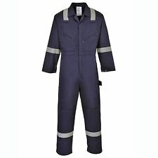 Iona Coverall Reflective Knee Pad Pockets Two Way Front Zip Overall Boilersuit