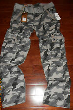 NEW MENS FASHION CASUAL ARMY CARGO CAMO GRAY COMBAT WORK PANTS ALL SIZES