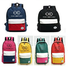 EXO FROMPLANET KRIS LUHAN SEHUN CANVAS BAG SCHOOLBAG BACKPACK KPOP NEW
