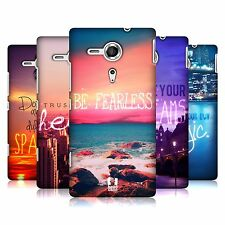 HEAD CASE DESIGNS WORDS TO LIVE BY SERIES 4 CASE COVER FOR SONY XPERIA SP C5303