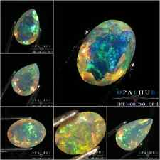 BEST DEAL !! NATURAL ETHIOPIAN WELO OPAL FACETED CUT STONE MULTI FIRE A++++