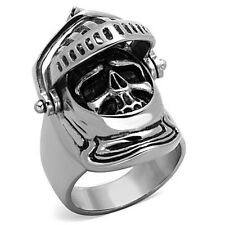 Mens New Stainless Steel Movable Medieval Armored Knight Skull Ring - Sizes 8-13