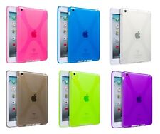 X STYLE TPU GEL SKIN CASE BACK COVER FOR APPLE IPAD MINI WITH SCREEN PROTECTOR