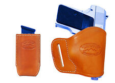 NEW Barsony Tan Leather Yaqui Holster + Mag Pouch NA Arms Llama MiniPocket 22 25