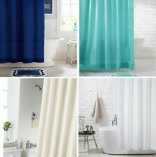 Extra Long Extra Wide Long Drop Waterproof Fabric Shower Curtain With 12 Hooks