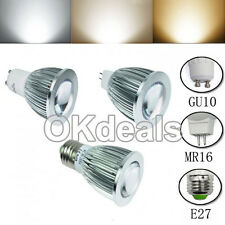 MR16/GU10/E27 6/9/12W Dimmable LED COB Spotlights Lamps Warm Cool Natural White