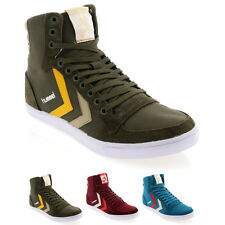 Mens Hummel Slimmer Stadil High Canvas Lace Up Retro High Top Trainers UK 7.5-12