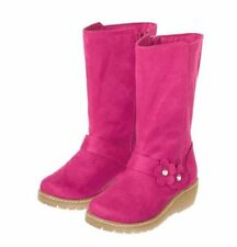 NWT Gymboree FAIRY TALE FOREST SZ 10 12 13 1 2 Pink Flower Faux Suede Boots