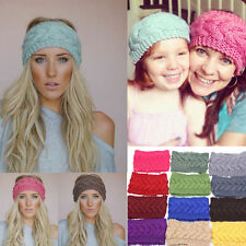 New Crochet Headband Knit hairband Flower Winter Women Ear Warmer Headwrap #3