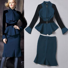 F860#14 Hitz European brand retro jacket + skirts London Slim fashion women suit