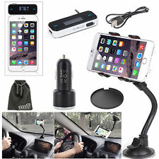EEEKit Car Kit for iPhone 6 Plus Galaxy Note 4 Car Mount/Charger+FM Transmitter