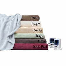 NEW Beautyrest Cozy Plush Heated Electric Blanket BLOWOUT 4 Sizes 8 Colors PICK!