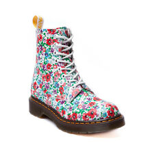 Dr.Martens Pascal White Floral Leather Womens Boots