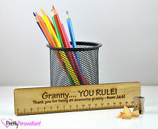 Unique Gift For DIY Gran Granny Personalised Wooden Ruler Mothers Day Present