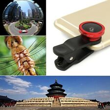 3in1 Universal Clip On Cell Phone Camera Lens 180° Fisheye + Wide Angle + Macro