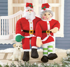 Stuffable 4 Ft. Tall Santa Claus Porch Home yard Greeter Christmas Outdoor decor