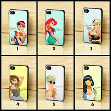 Disney Princess Ariel Belle Snow Tattoo Quote Case Cover for iPhone & Samsung