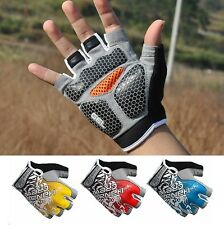 New Fashion Cycling Bike Bicycle Shockproof Half Finger Glove Hexagonal GEL Pad