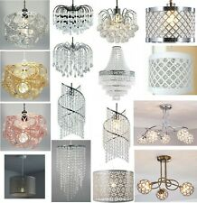 Modern Chandelier Style Ceiling Pendant Light Shade Acrylic Crystal Droplet Bead